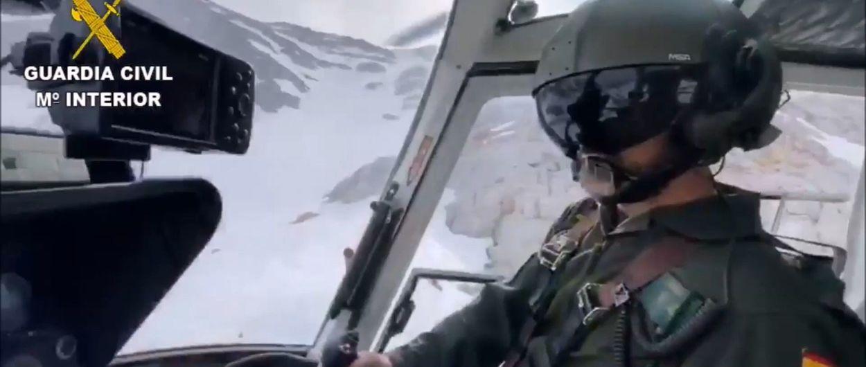Rescate de la Guardia Civil a un esquiador que vio como se accidentaba