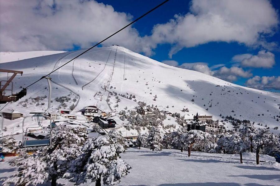 estacion de esqui en el Puerto de Navacerrada