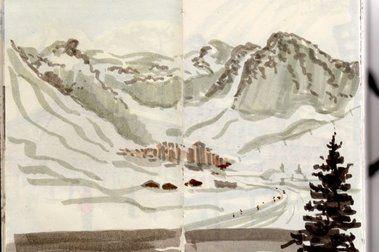 Retro Esqui Camp en Val d'Isere