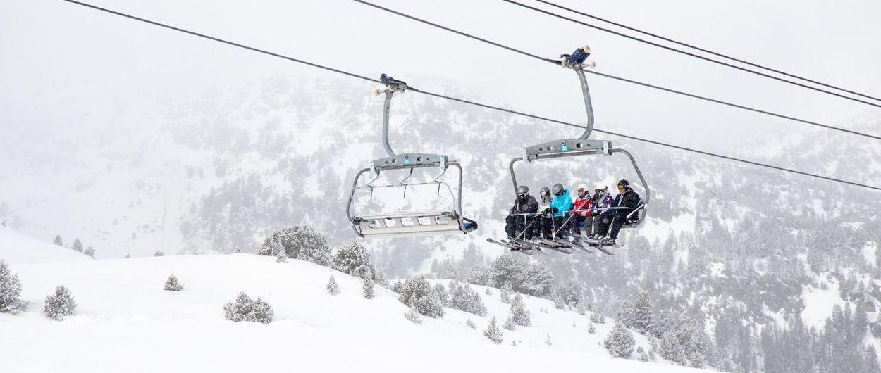 Vuelve a nevar sobre Grandvalira y ya cuenta con 190 km esquiables