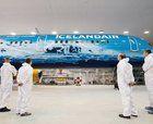 Icelandair recrea su nuevo avión como si fuera un glaciar
