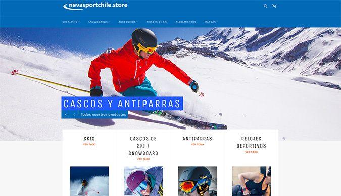 Nace Nevasport Chile Store, una tienda on-line con todos los productos que necesitas!