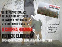 II Cadena Humana al Refugio Elorrieta_invitación espíritus serrranos lagunillo misterioso