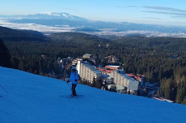 Aprendiendo a esquiar en la estación búlgara de Borovets