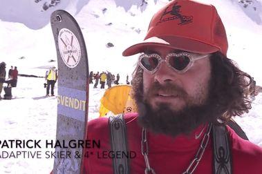 Patrick Halgren hizo una prueba del FWQ... con una sola pierna!