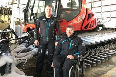 El único parapléjico del mundo que conduce una pisapistas de esquí
