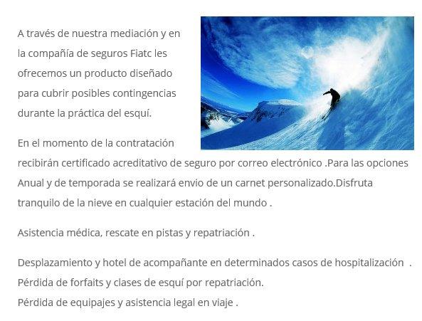Seguros de esquí / snow