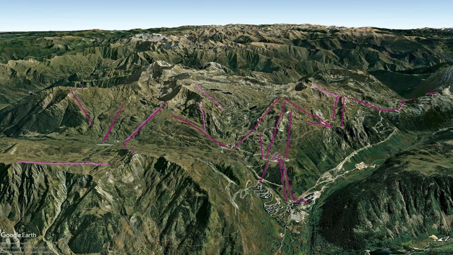 Vistas Google Earth Baqueira Beret 2018-19