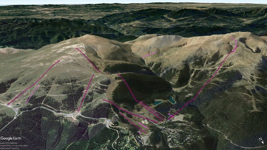 Vistas Google Earth Masella 2018-19