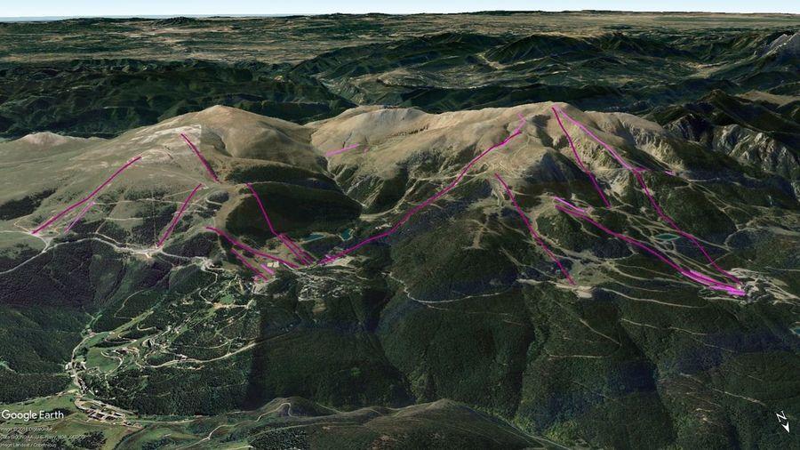 Vistas Google Earth Alp 2500 (La Molina + Masella) 2018-19