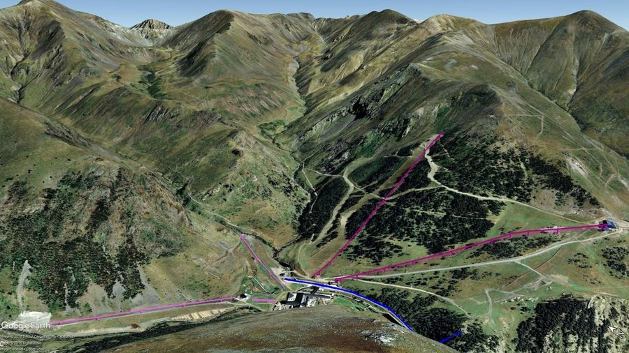 Vistas Google Earth Vall de Núria 2018-19