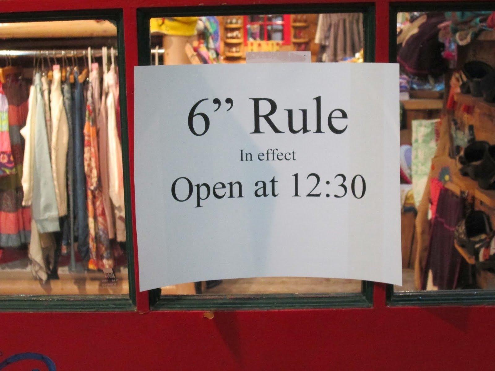 La regla de las 6 pulgadas