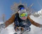 Freerider Nicolas Falquet lleva a su hijo de 17 meses a esquiar fuera pista
