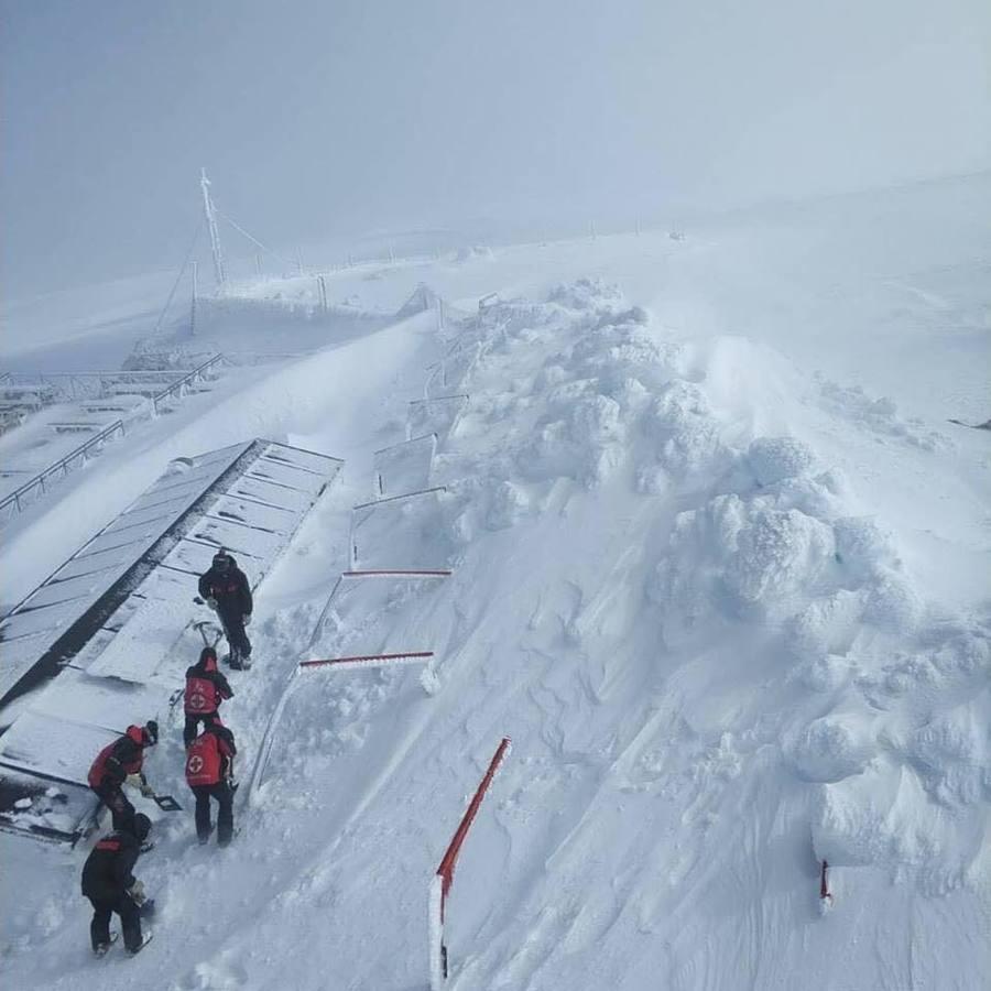 Sierra de Béjar - La Covatilla enterrada bajo la nieve