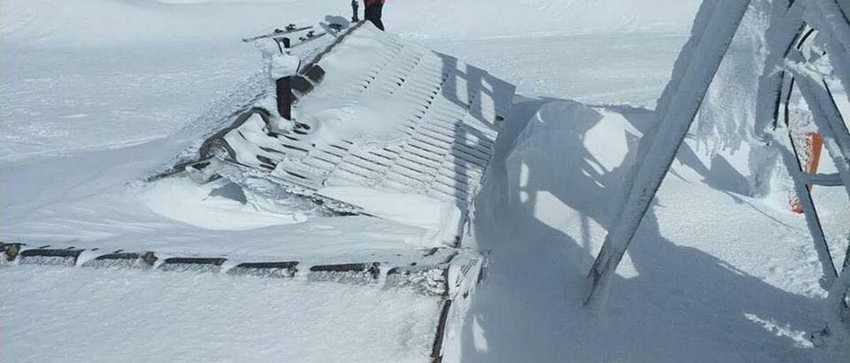Sierra de Béjar - La Covatilla queda enterrada bajo la nieve
