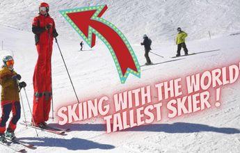 El esquiador más alto del mundo!