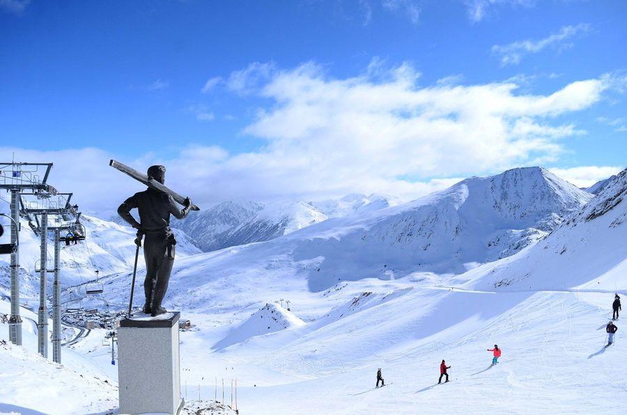 Imagen del sector Pas de la Casa de la estación de esquí de Grandvalira