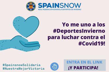 Campaña solidaria de Spainsnow contra la crisis del coronavirus