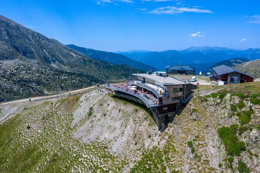 vista aérea Restaurante en Grandvalira Encamp