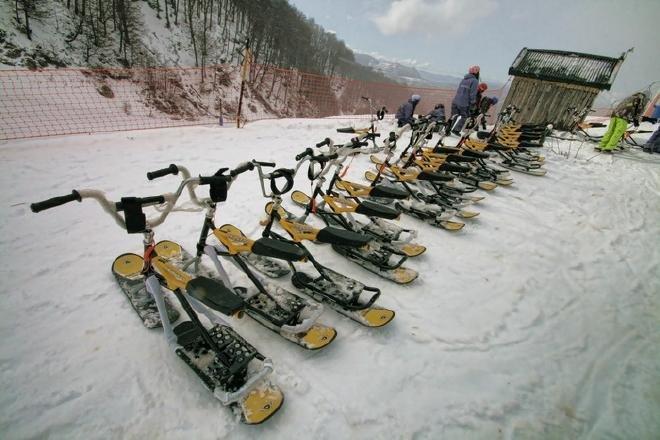 Snow Bikes en Cerro Catedral