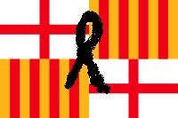 bandera barcelona crespon negro