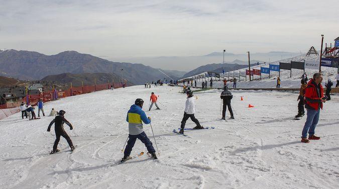Esquiando en La Parva