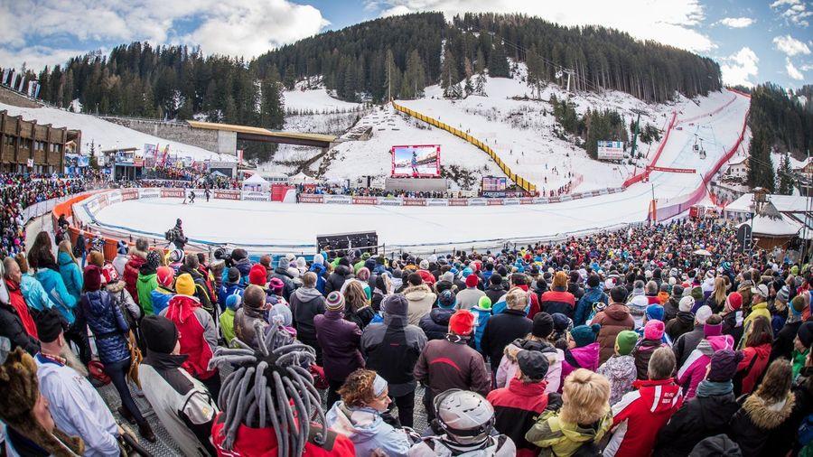 Copa del mundo de esqui alpino en Val Gardena