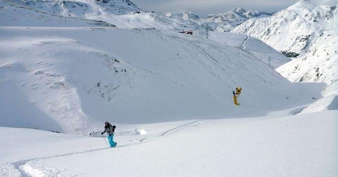 Primera esquiada de la temporada - Astún 16-11-2013