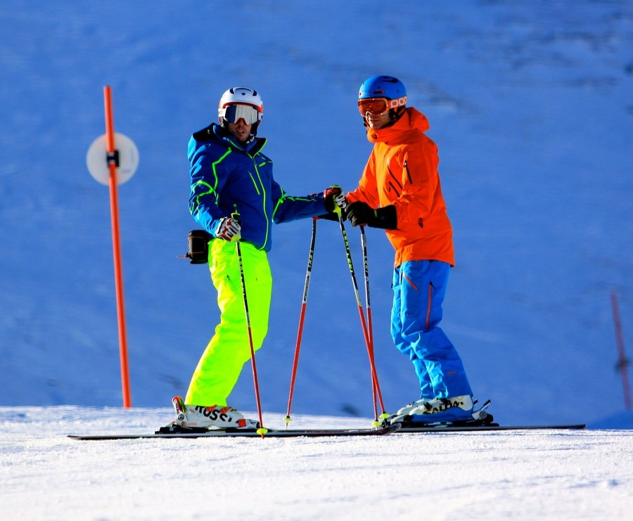 Esquiar con Sam