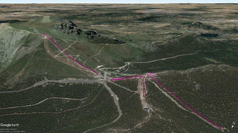 Vistas Google Earth Puerto Navacerrada  2018-19
