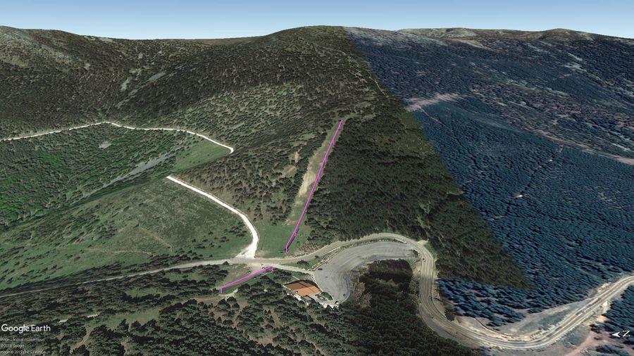 Vista Google Earth Puerto de Santa Inés 2019/20