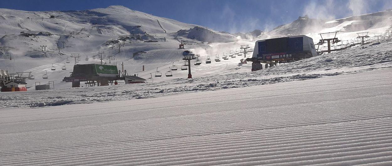 Sierra Nevada inaugura temporada de esquí con 30 kilómetros