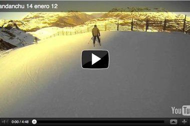 Candanchú 14 de enero, vídeo