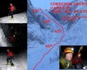 Candanchú: Corredor Javichu nocturna (150m/AD/S4.2 E2)
