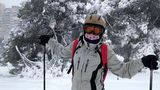 Maitetxu esquiando en Madrid