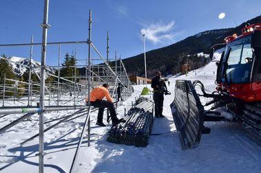 Grandvalira inicia la instalación de las gradas para las Finales de Copa del Mundo