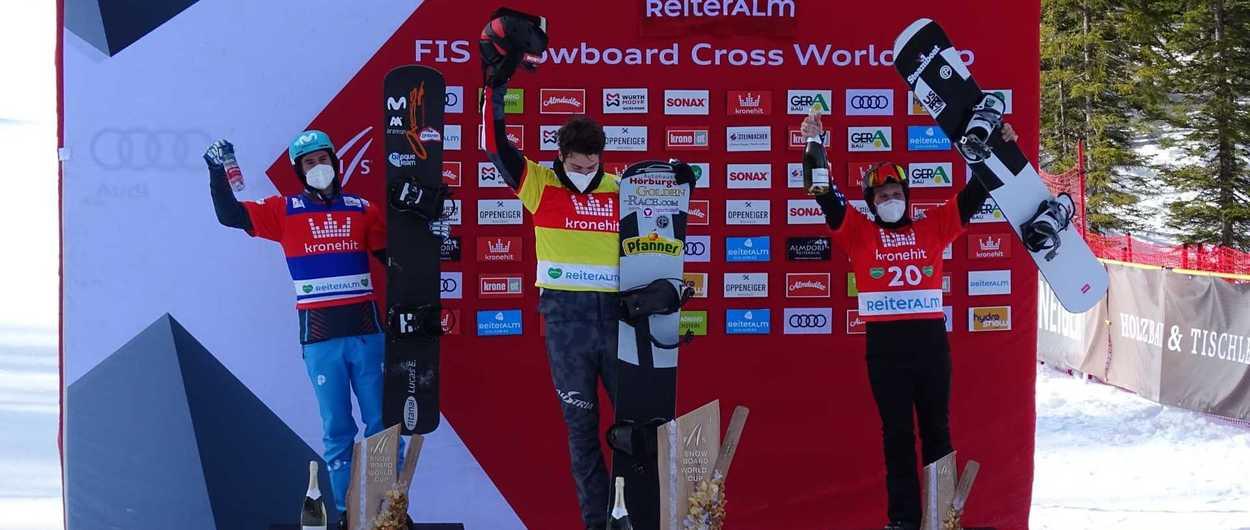 Lucas Eguíbar logra un segundo puesto en la Copa del Mundo de SBX en Austria