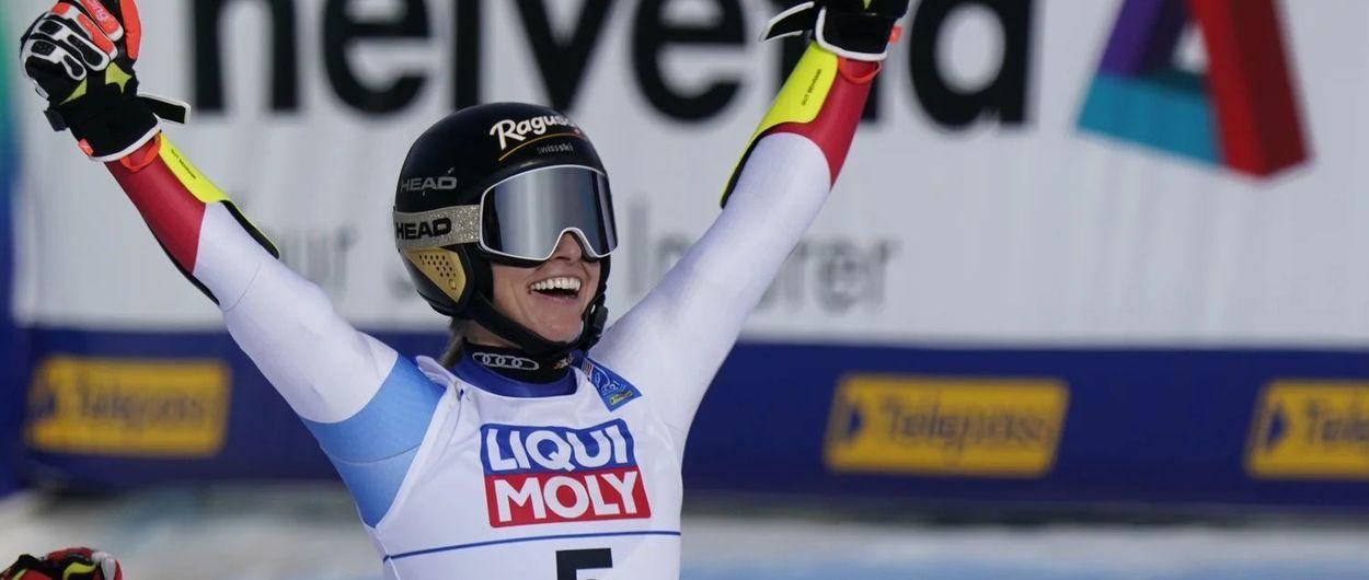 Lara Gut firma su propia leyenda en un impresionante Gigante de Cortina 2021