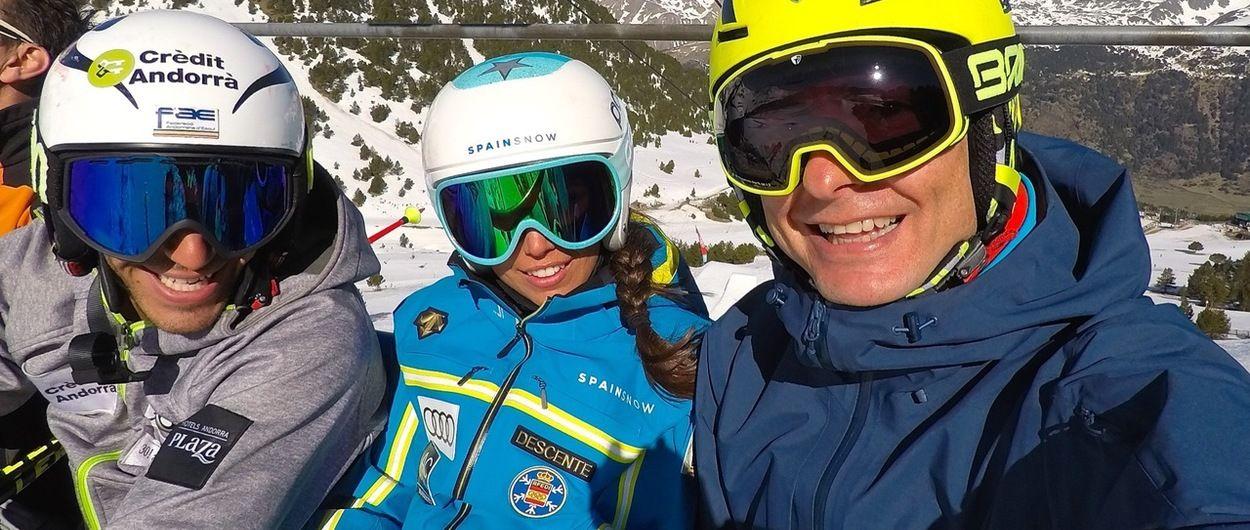 Esquiar con campeones.