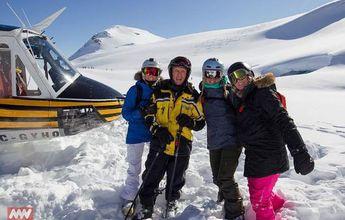 El practicante de heli-ski de más edad del mundo