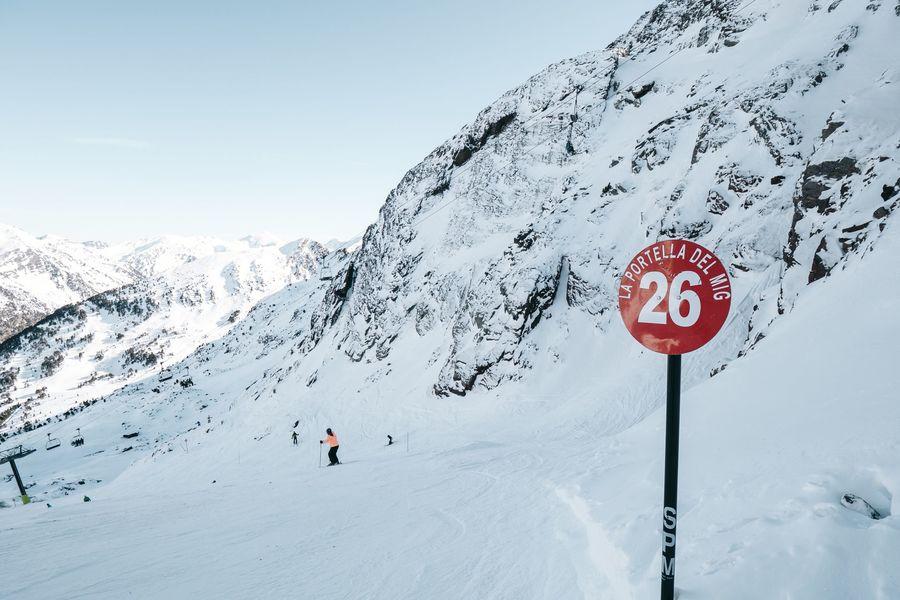 Esquiando en Ordino arcalis