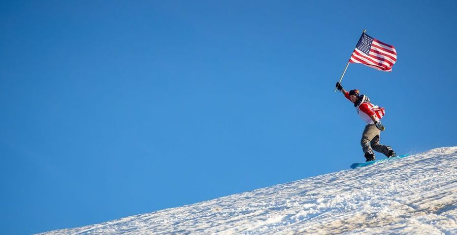 Mammoth Mountain us ski flag