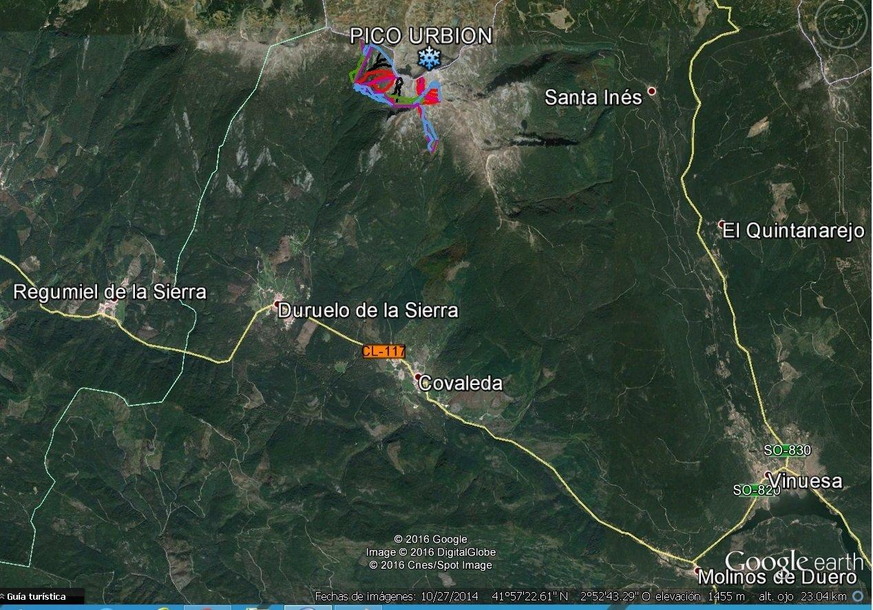 Emplazamiento estacion Pico Urbion