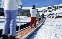cinta transportadora de esquiadores