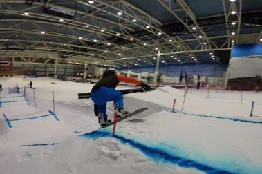 La RFEDI diseña una pista de SnowboardCross dentro de Madrid Snowzone