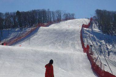 Una pista olímpica de descenso solo para unos días