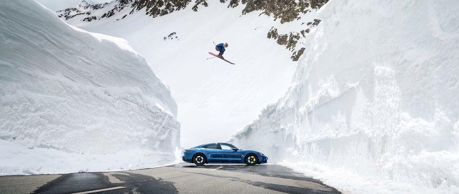 Salto Porsche esquí