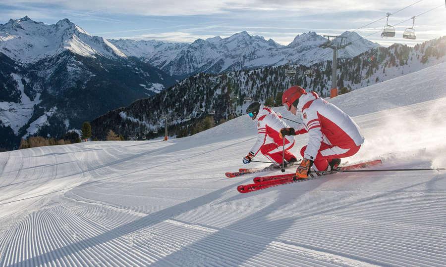 esquiando e italia