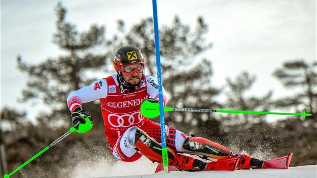 Marcel Hirscher gana el slálom de Levi