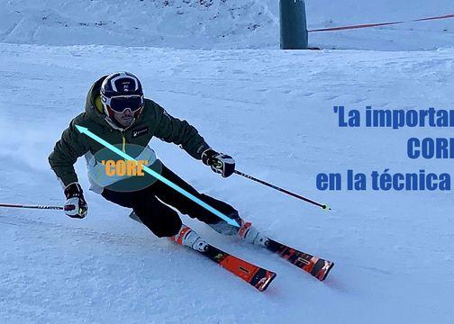 La importancia del 'core' en la técnica de esquí